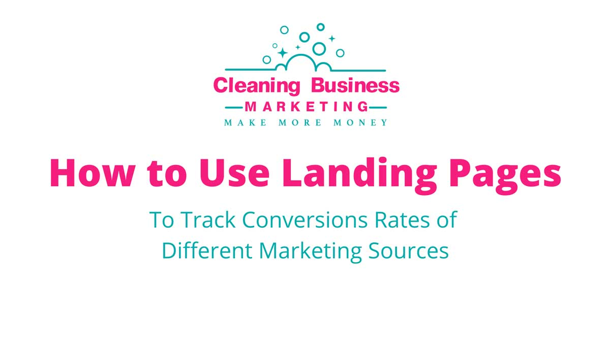 Landing Pages to Track Conversion