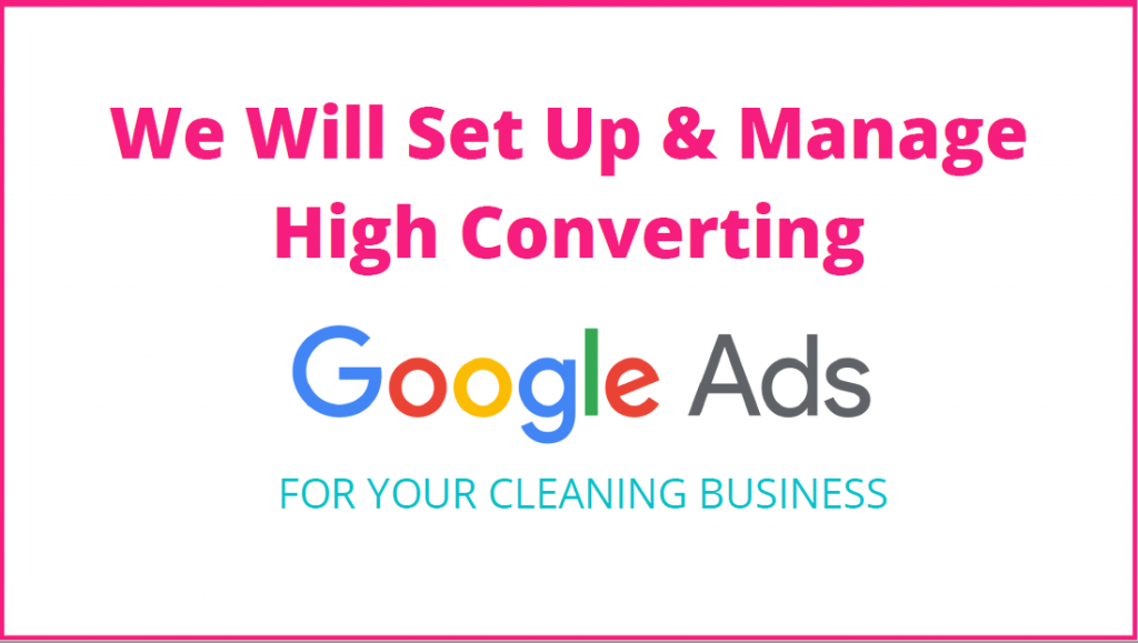 Google ads for cleaning business
